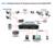 Mini 8CH Full D1 H.264 HDMI DVR CCTV Sistema de Segurança 8 canal 720 P 1080 P NVR Híbrido DVR Móvel Gravador DVR RS485 PTZ Hot