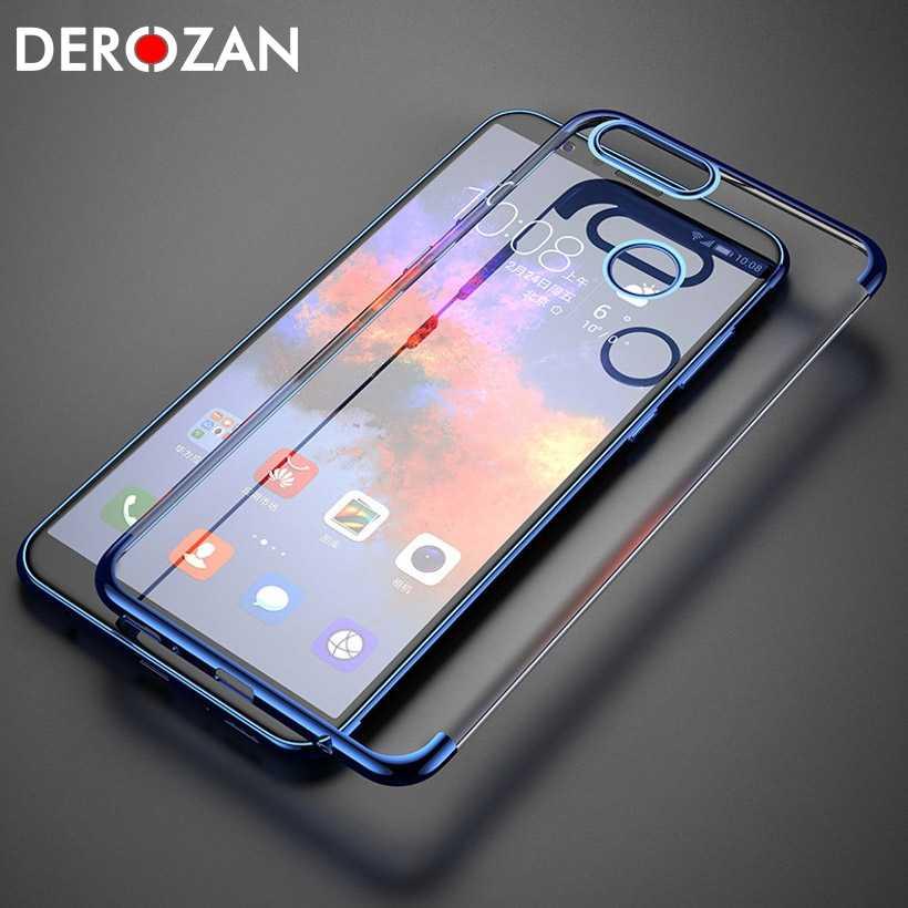 DEROZAN TPU kılıf Huawei onur 10 için kılıf 9 Lite P akıllı 7C Pro 7A 8X Max Y6 2018 oyun 7X not 10 V10 8 8C Y7 başbakan arka kapak