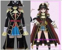 Аниме Mouretsu Пираты moretsu uchuu kaizoku Като Marika партии униформа Косплэй костюм Для женщин человек Костюмы полный набор