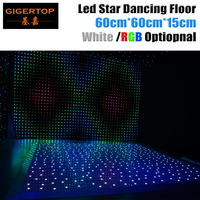 Gigertop TP E22 60*60cm Led Star Dance Floor Light 110V 240V White Color Star Dancing Floor for wedding party disco club hall