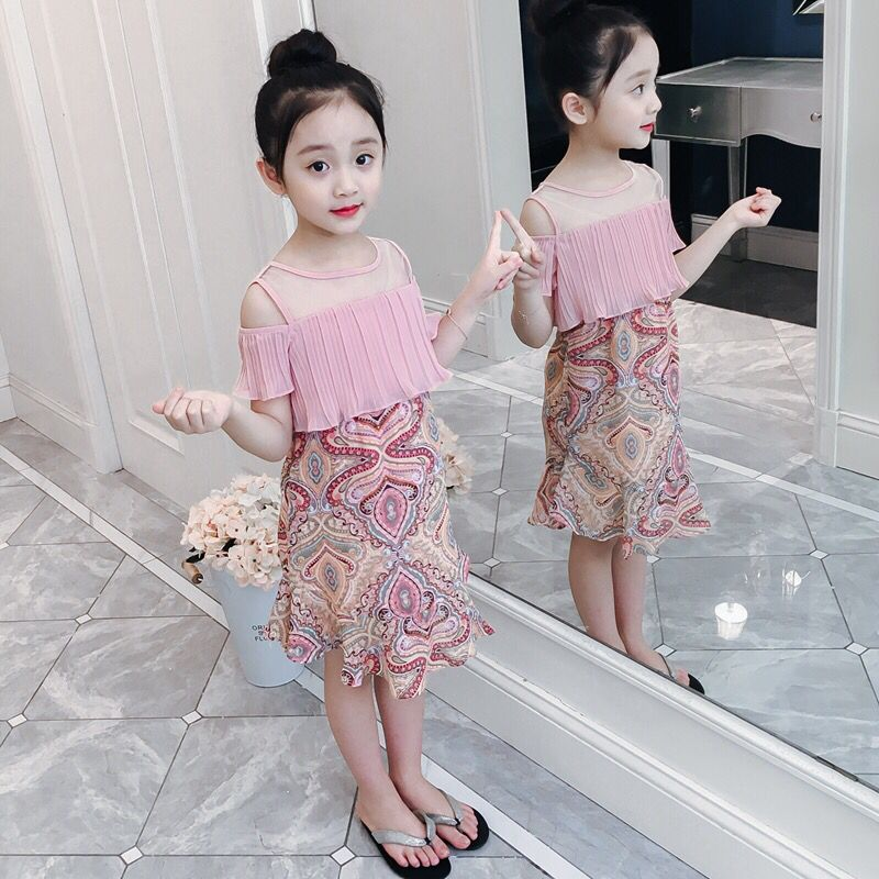 2019 Summer   Flower     Girl     Dress   Child Wedding Party Sweet Princess   Dress     Girl   Chiffon Knee   Dress   12 11 9 8 7 6 5 4 3 2 year old
