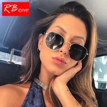 цена на RBROVO 2018 Summer Vintage Sunglasses Women Glasses Lady Luxury Retro Metal Sun Glasses Vintage Mirror UV400 Oculos De Sol