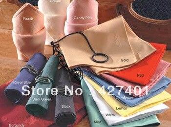 Hot Sale High Quality 100% Polyester Plain White Napkin / Table Napkin / Hotel Napkin / Dinner Napkin 45x45cm