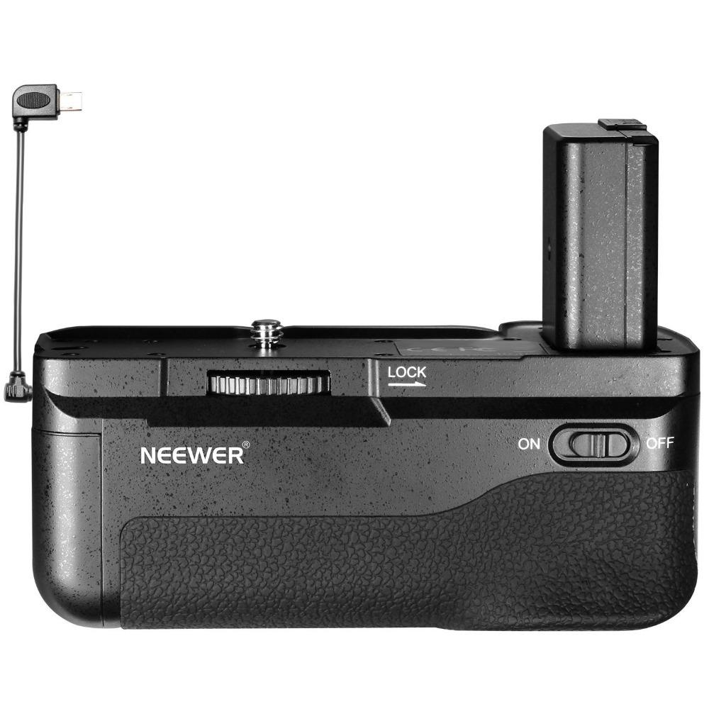 Prix pour Neewer Vertical Batterie Grip avec Déclencheur Bouton pour Sony A6300 Caméra, Compatible avec 1 ou 2 NP-FW50 Batterie