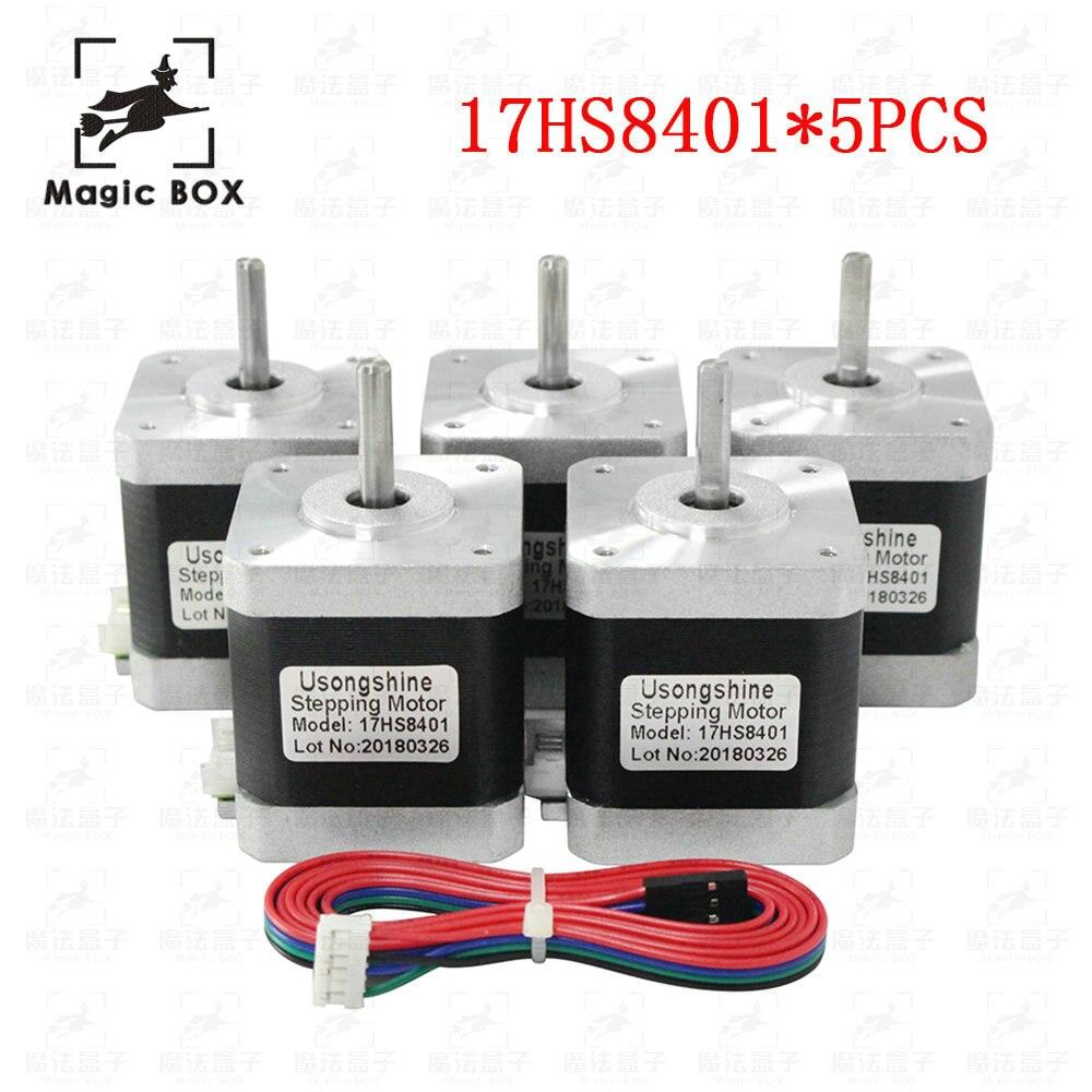 5pcs lot 4 lead 17HS8401 motor Nema17 Stepper Motor 42 motor 17HS8401 1 7A CE ROSH
