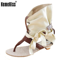 Kemekiss Размеры 34–43 Для женщин Летние туфли на плоской подошве модные платья пикантные Туфли без каблуков Летняя обувь на высоком каблуке Шлё...