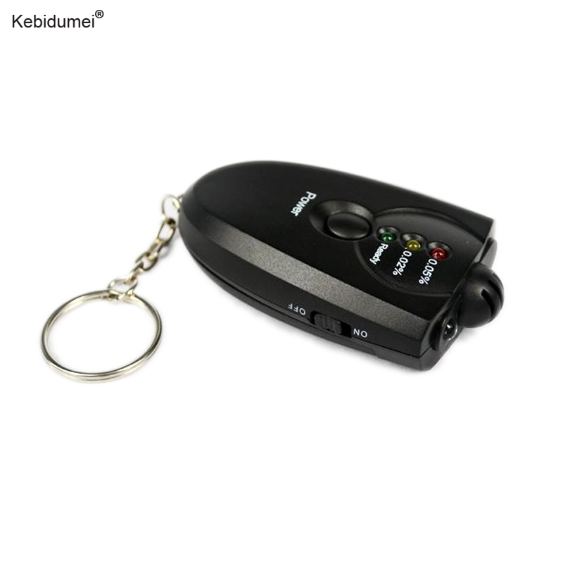 kebidumei LED Flashlight Breathalyzer Portable Keychain Red Light Alcohol Breath