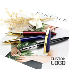 1pc New Metal Ball Pen Daily Writing Business High-end Gift Gel Pens Custom LOGO Student Stationery Office Hotel Laser Lettering