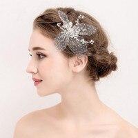 2017 Elegant Boutique Yarn Rhinestone Wedding Hairbands Handmade Wedding Hair Accessories Bridal Headpiece Made In China