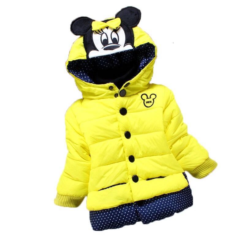 Ausdauernd Neue Winter Mädchen Baumwolle Mantel Cartoon Mickey Hoodie Kinder Mädchen Kleinkind Mädchen Warme Mantel Polka Dot Nette Baby Mädchen Kleidung Für 4 Jahr