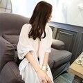 NUEVO ESTILO de Moda Blanco Cuidado de Verano Color Sólido Mantón de La Bufanda Para Las Mujeres 150*120 cm