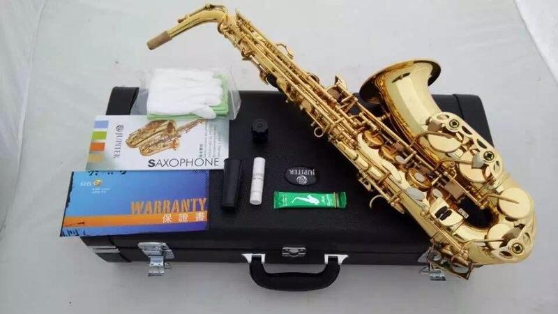 Brand Instrument Taiwan Jupiter JAS-567 Brass Tube Gold Lacquer Alto Saxophone Eb Tune Pearl Decorative Buttons Saxofone