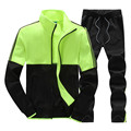 New Youths Spring Autumn 2pcs Men's Jacket and Pants Fashion Tracksuits Mens SportsSuits Set Hot Clothing Set Sweatshirts S-06