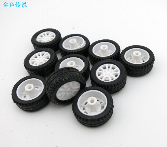 10Pcs 20*8*1.9mm Rubber Hollow Tire Car Wheel Model Wheels DIY Toy Accessory for Car F17678 цена