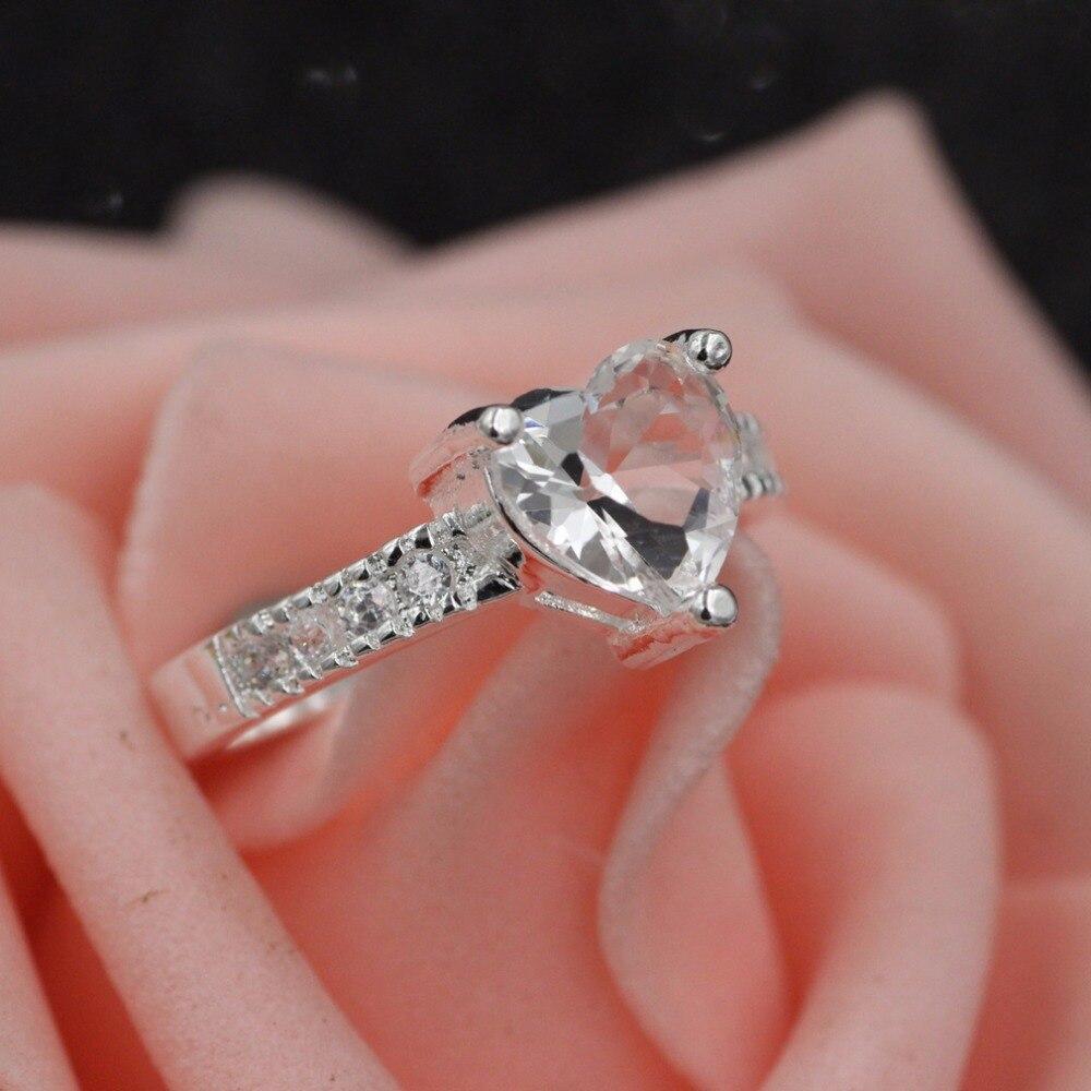 925 sterling silver women ring Love zircon sterling silver ring ...