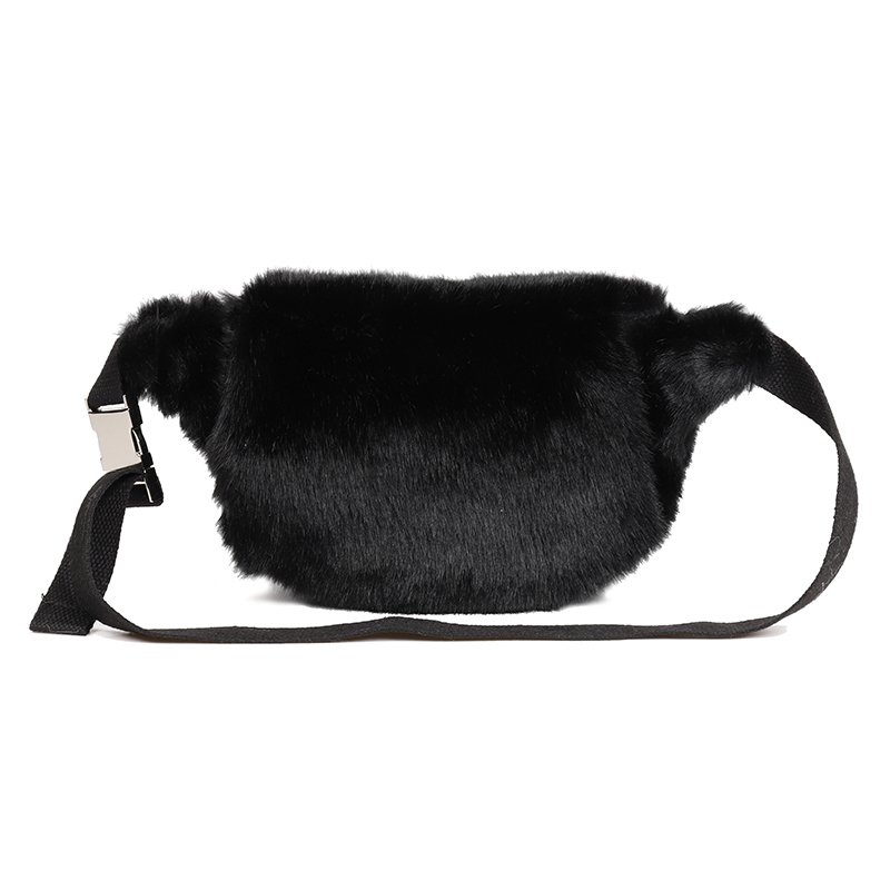 071ca181ad8dd ARPIMALA Women Faux Fur Fanny Pack White Black Fur Chest Bag Small Waist Bag  for Girl Unisex Luxury Fashion Shopper Handbags-in Waist Packs from Luggage  ...