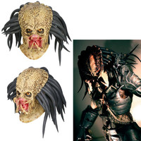 Predator Mask Cosplay Costume Props Helmet Antenna Halloween Party Horror Adult Latex masks