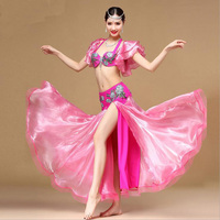 New Arrival Luxury Bra&Skirt Belly Dance Costumes Dresses nice Sexy Belly Dancing Outfits Stage Performance Clothes M/L size