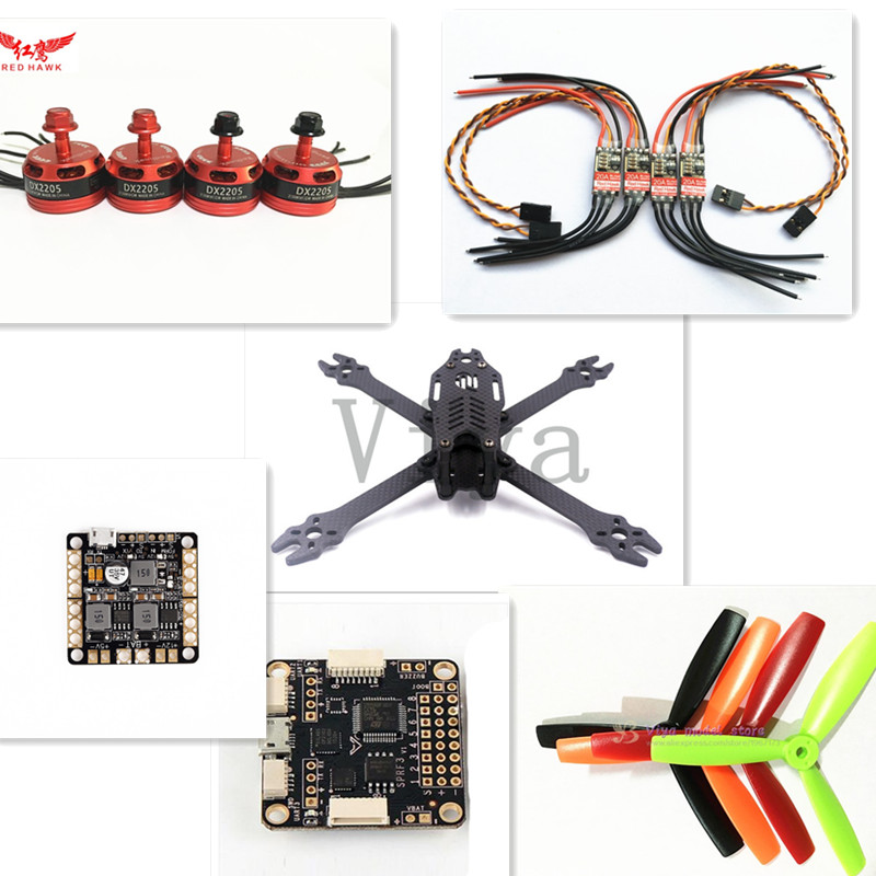 F2 mito 210mm pure carbon frame kit for DIY FPV mini drone 2205 2300KV motor + 20A ESC + F3 ACRO + 5045 propeller diy h250 quadcopter frame kit fpv mini drone qav250 pure carbon frame cc3d 2204 2300kv motor simon k 12a esc 5045 prop