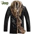 М-5XL Зима новый Натуральная кожа одежда мужской бренд лисий мех воротника вниз пальто плюс размер верхней одежды из овчины кожаная куртка 1200
