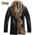 M-5XL Winter new Genuine leather clothing men's brand fox fur collar down coat plus size sheepskin outerwear leather jacket 1200