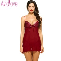 Avidlove Porn Erotic Lace Bra Women Sexy Lingerie Office Lady Uniform Set Bodydoll Sleepwear Nightdress Nightgown