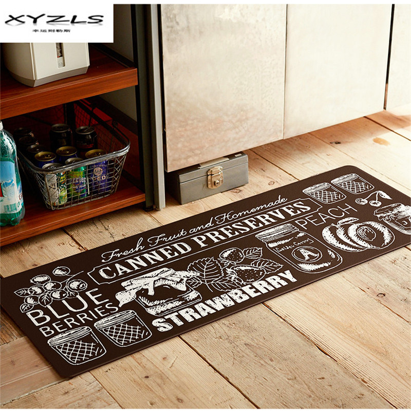 White Kitchen Floor Mats: XYZLS 2018 Modern Black And White Printed Welcome Floor