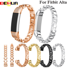 2018 good Genuine Stainless Steel Watch Bracelet Band Strap For Fitbit Alta HR/Fitbit Alta Watchbands Correas de reloj Wristband