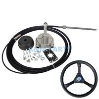 21FT Marine Boat Single Turbine Rotating Gear Steering Systems With Wheel Cable