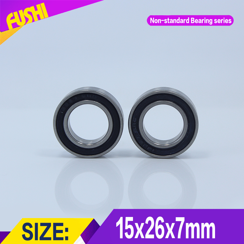 15267-2RS Bearing (4 Pcs) 15*26*7 mm Bicycle Axle 15267 - 2RS Bearings Used For FSA MegaExo Light In The V-3 Axis abxg 23327 2rs speed connection drum bearing 23327 2rs for sram bicycle hub repair parts bearing 23x32x7 mm 23 32 7 mm