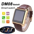 New DM08 Bluetooth Smart Watch Smartwatch Luxury Leather Camera IPS Screen Business Wristwatch For iPhone&Samsung Android Phone