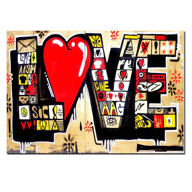 5c20c03a959 placeholder Poster HD Print Street Art Graffiti 3D Red LOVE MODERN Abstract Canvas  Painting Art Wall Pictures