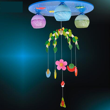 Dier blauw LED hanglamp jongen meisje Prinses kinderkamer verlichting cartoon leuke oogzorg slaapkamer hanger lampen ZA1110153