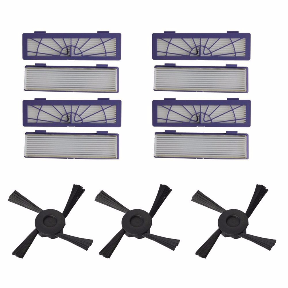 8 pack High-Performance Filters HEPA Filter + 3 Side Brush for Neato Botvac Series 75 80 85 Part#945-0123 Vacuum Cleaner optimizing the performance of microstrip filters