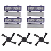 8 pack High-Performance Filters HEPA Filter + 3 Side Brush for Neato Botvac Series 75 80 85 Part#945-0123 Vacuum Cleaner