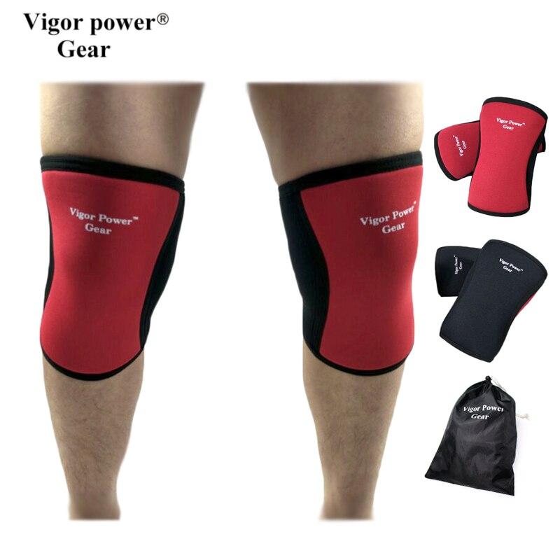 Vigor Power Gear 1403- 7mm Weight Lifting Knee Sleeves Neoprene Knee Support usde for Cr ...