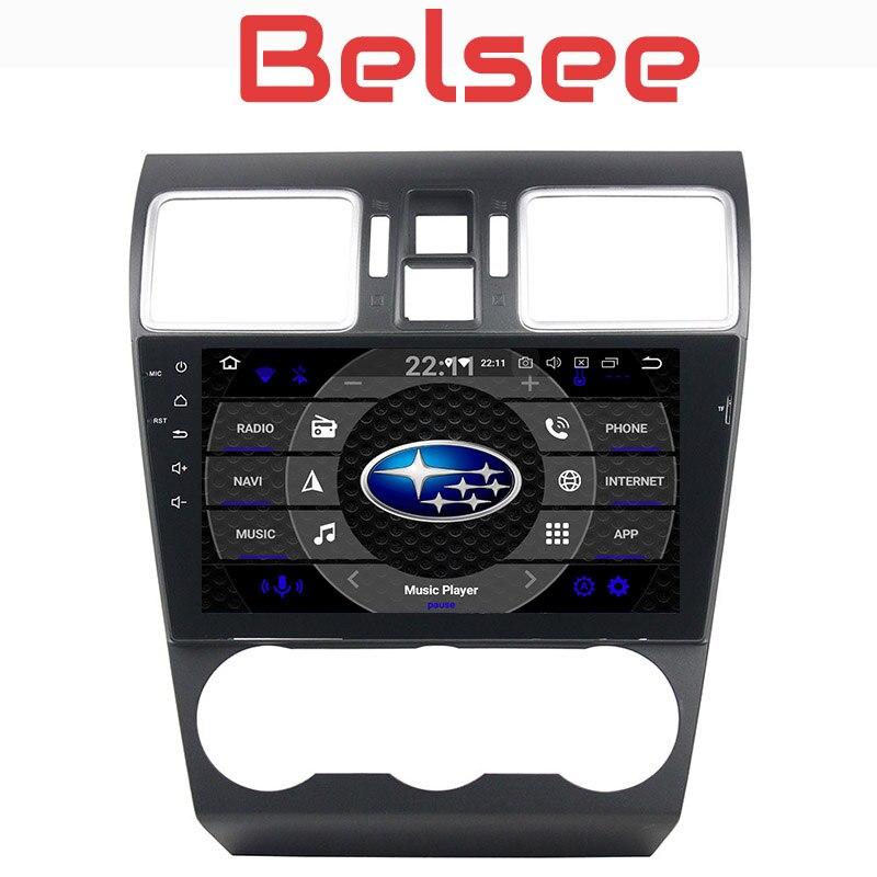 Belsee Voiture Multimédia Radio Lecteur Android 8.0 Unité de Tête Stéréo 8 Core PX5 pour Subaru WRX XV Forester 2013 2014 2015 2016 2017