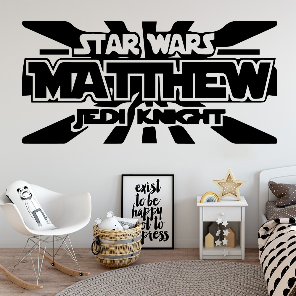 Cartoon Star Wars Matthew Stickers Home Decoration Nordic Style For Kids Baby's Rooms Adesivo De Parede wallstickers