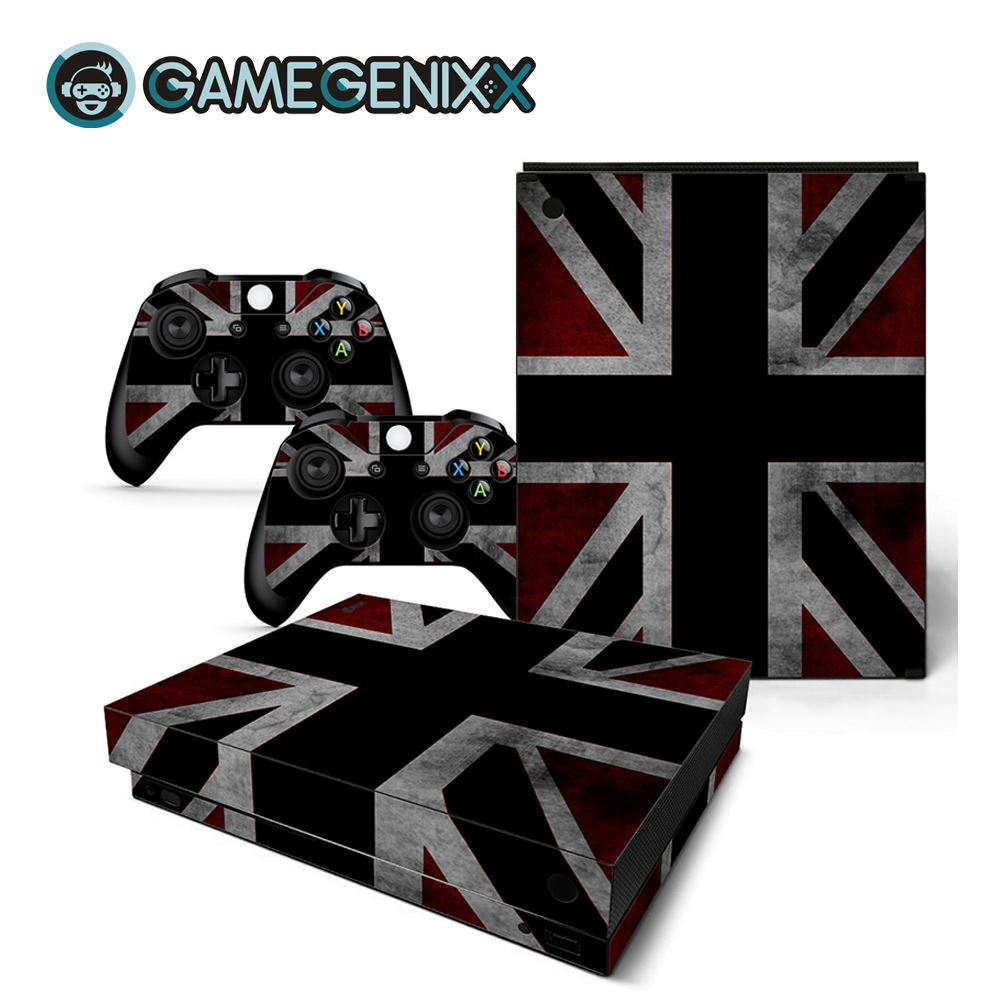 GAMEGENIXX Skin Sticker Protective Vinyl Decal for Xbox One X Console and 2 Controllers - British Flag(China)
