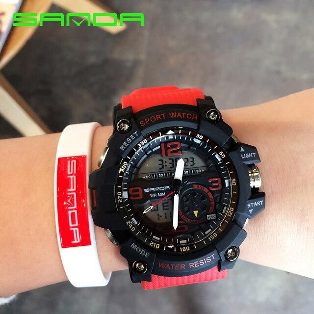 Цифровой аналоговый наручные Часы Для мужчин Для женщин LED электронный Dive армии G S-шок спортивные Часы Для женщин Для мужчин Relogio Masculino feminino Новый