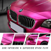 E-FOUR 4D Pink Carbon Fiber Vinyl Wrap Sticker with Air Realease Bubble Free Anti-Wrinkle Metal Color Appreance Interior Mould