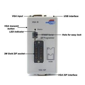 Image 3 - Original RT809F programmer +12 Adapters+sop8 IC clip+CD+1.8V / SOP8 Adapter VGA LCD ISP programmer adapter universal programmer