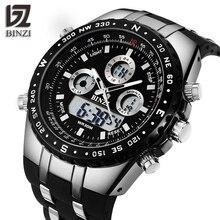 BINZI Men Watch Waterproof Sport Outdoor Wristwatches Dual D