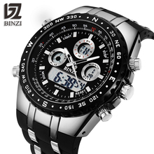 BINZI Men Watch Waterproof Sport Outdoor Wristwatches Dual D