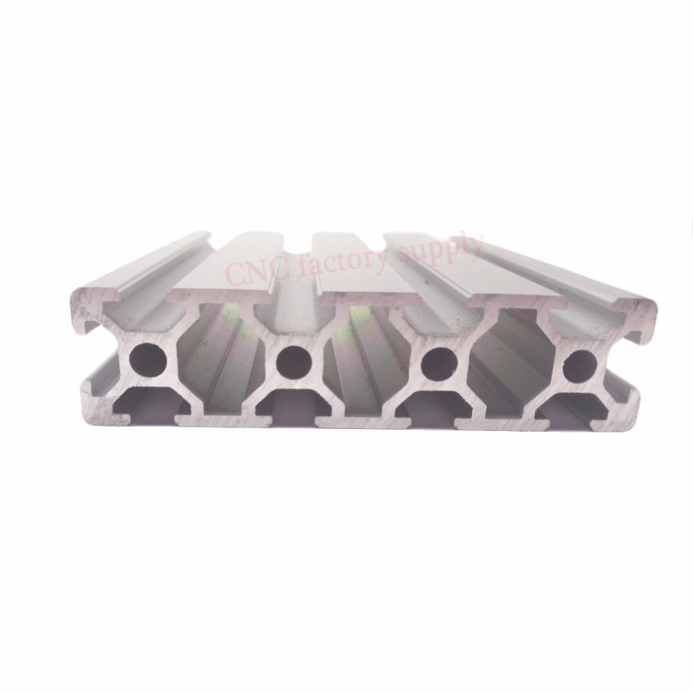 HOT Sale CNC 3D Printer Parts European Standard Anodized Linear Rail Aluminum Profile Extrusion 2080 for DIY 3D printer hot product 3d cnc machine for sale