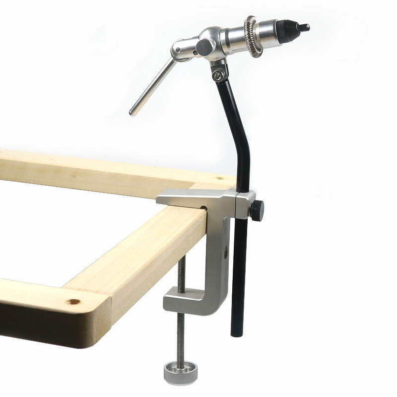 1Set Rotary Fly Tying Vise C Clamp With Heavy Duty Base Hook Tool for Making Flies