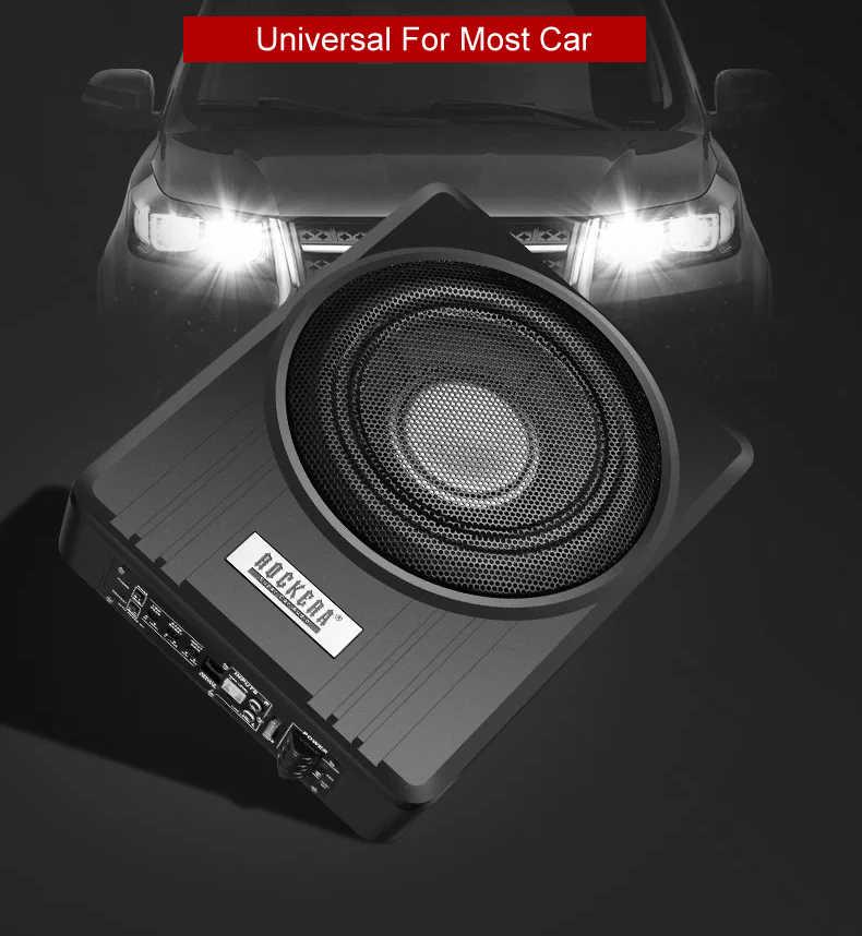 10 дюймов 900 Вт автомобильный под сиденьем сильный тонкий сабвуфер авто супер бас автомобильный аудио динамик активный сабвуфер встроенный 150 Вт усилитель динамик