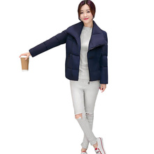 Autumn and winter new women s down jacket Thick warm Slim was thin cold Long sleeve