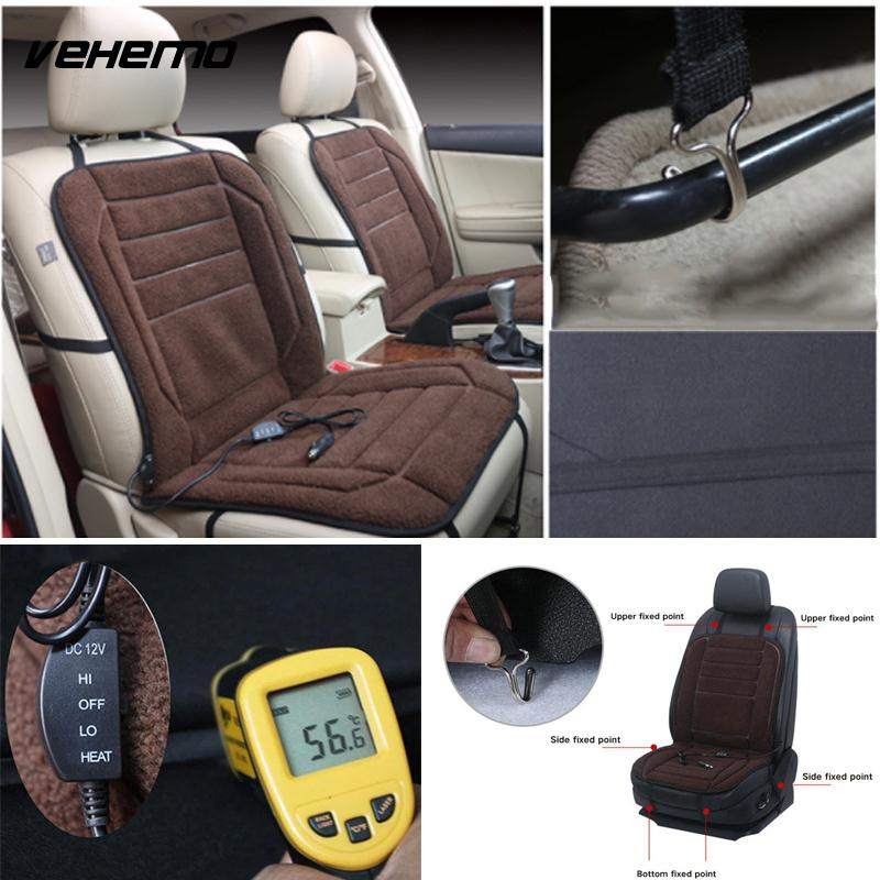 Vehemo Berber Fleece Heated Cushion Car Seat Cover Winter Electric Heater Warm Heating Pad In Automobiles Covers From Motorcycles On