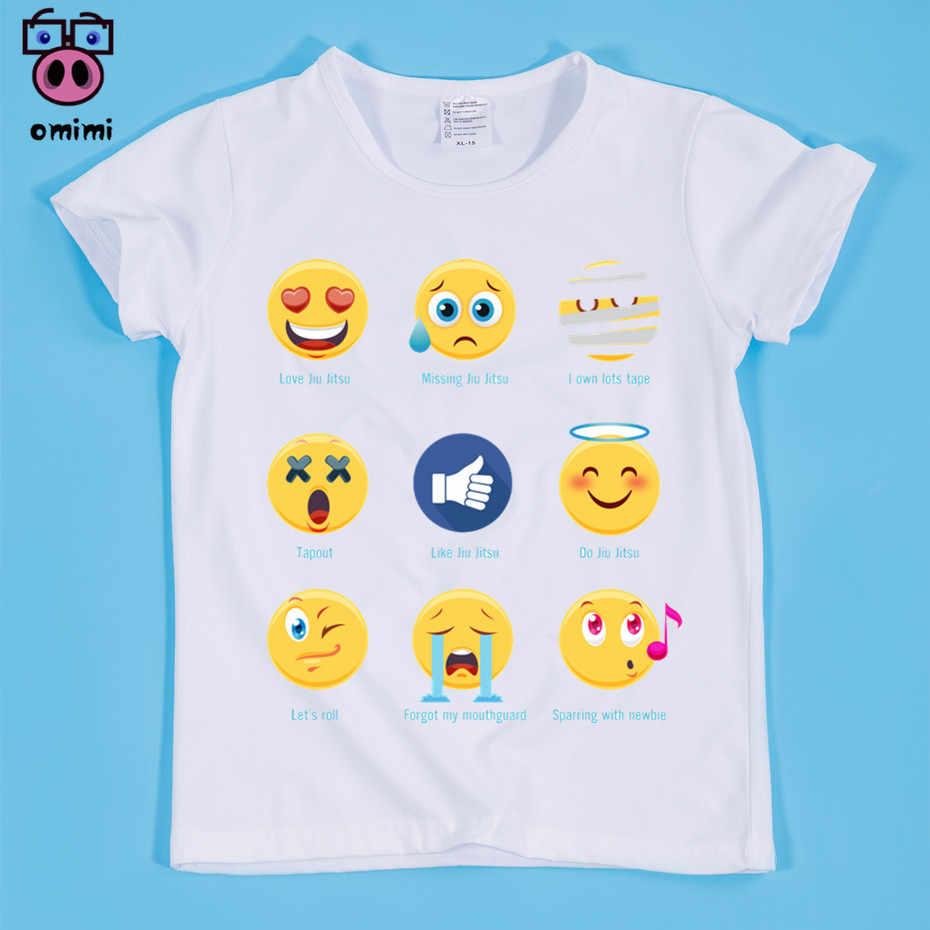 Ready Stock Lucu Anak-anak Jiu Jitsu Lucu Desain Cetak T-shirt Anak Hewan Cetak Kaos Anak Laki-laki dan Perempuan Tee kemeja